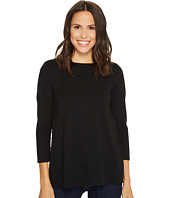 Mod-o-doc - Deluxe Jersey Side Pleated Boat Neck 3/4 Sleeve Tee