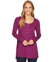 Mod-o-doc - Deluxe Jersey Long Sleeve Henley Tunic with Side Slits