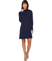 Mod-o-doc - Cotton Modal Spandex Jersey Funnel Neck Keyhole Back Swing Dress