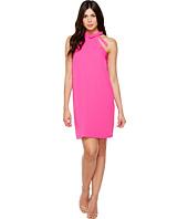 CeCe - Soft Crepe Tie Neck Halter Dress