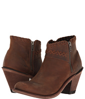 Old West Boots - Crisscross Stitch Ankle Boot