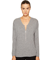 The Kooples - Sweater with a Zip Neckline in Wool and Cashmere