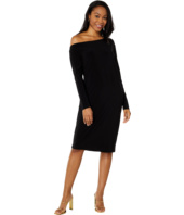 KAMALIKULTURE by Norma Kamali - Long Sleeve Drop Shoulder Dress
