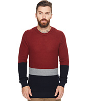Ben Sherman - Textured Color Block Crew Neck