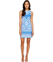 Taylor - Printed Scuba Sheath Dress
