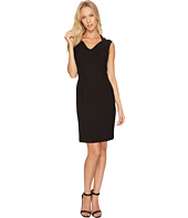 Ellen Tracy - Cap Sleeved Bistretch Dress with V-Neck