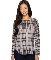 Nally & Millie - Grey Tie-Dye Print Sweater Top