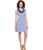 Three Dots - Mykonos Stripes Cowl Neck Dress