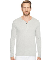 John Varvatos Star U.S.A. - Long Sleeve Henley w/ Neck Facing K3119T2B