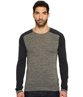 John Varvatos Star U.S.A. - Long Sleeve Color Block Crewneck Sweater
