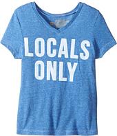 The Original Retro Brand Kids - Locals Only Short Sleeve Tri-Blend V-Neck Tee (Big Kids)