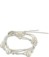 Chan Luu - Double Pearl Wrap Bracelet On Mokuba Cord