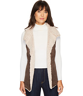 Dylan by True Grit - Faux Suede & Sherpa Cozy Collar Vest