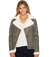 Dylan by True Grit - Distressed Bonded Sherpa Snap Jacket