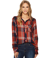 Dylan by True Grit - Luxe Rayon Peyton Plaid Shirt