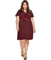 MICHAEL Michael Kors - Plus Size Cheetah Cat Border Dress