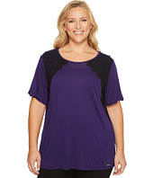 MICHAEL Michael Kors - Plus Size Lace Short Sleeve Crew Neck Top