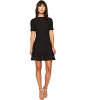 Tahari by ASL - Knit Dress with Flounce Hem and Grommets