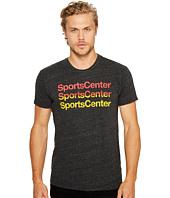 The Original Retro Brand - Short Sleeve Tri-Blend Sports Center T-Shirt