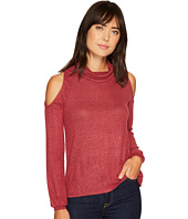 B Collection by Bobeau - Bey Cold Shoulder Cozy Top