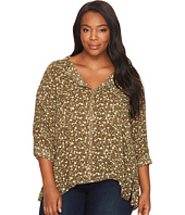 B Collection by Bobeau Curvy - Plus Size Pleat Back Blouse