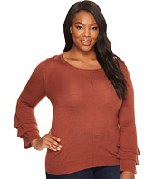 B Collection by Bobeau Curvy - Plus Size Ruffle Sleeve Sweater