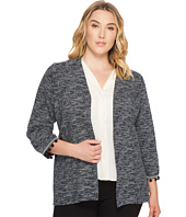 B Collection by Bobeau Curvy - Plus Size Maren Kimono Jacket with Trim