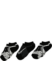 Nike Kids - 3-Pair Pack Graphic No Show Socks (Toddler)