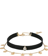 Steve Madden - Disc Chain Suede Choker Necklace