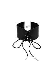 Steve Madden - Wide Leather Choker Necklace
