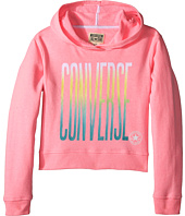 Converse Kids - Ombre Cropped Pullover Hoodie (Big Kids)