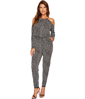 MICHAEL Michael Kors - Cheetah Cold Shoulder Jumpsuit