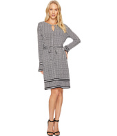 MICHAEL Michael Kors - Houndstooth Border Dress