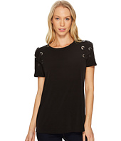 MICHAEL Michael Kors - Short Sleeve Armhole Lacing Tee