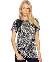MICHAEL Michael Kors - Big Cat Lace Crew Tee