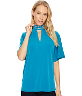 MICHAEL Michael Kors - Grommet Neck Shirred Top