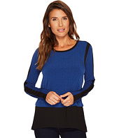 MICHAEL Michael Kors - Mini Leaf Woven Combo Top
