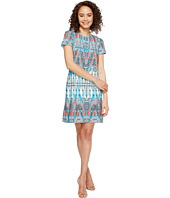 London Times - Matte Jersey T-Shirt Shift Dress
