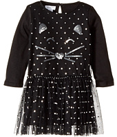 Mud Pie - Halloween Cat Mesh Overlay Dress (Infant/Toddler)