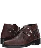 Toga Virilis - Embossed Leather Western Buckle Boot