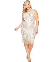 Unique Vintage - Plus Size Flapper Dress