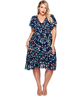 Unique Vintage - Plus Size Wrap Dress