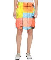 Jamie Sadock - Glow Print Cruncy Fabric Side Zip and Button 18 in. Skort