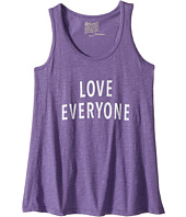 The Original Retro Brand Kids - Love Everyone Slub Racerback Tank Top (Big Kids)