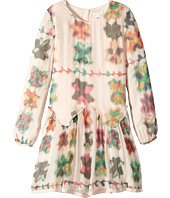 Chloe Kids - Couture Mini Me Long Sleeve Watercolored Details Dress (Big Kids)