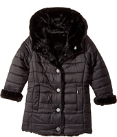 Karl Lagerfeld Kids - Reversible Nylon Coat with Faux Fur On The Other (Toddler)