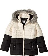 Karl Lagerfeld Kids - Two-Tone Puffer Jacket with Hood (Little Kids)