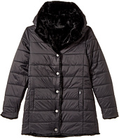 Karl Lagerfeld Kids - Reversible Nylon Coat with Faux Fur (Big Kids)