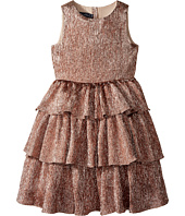 Oscar de la Renta Childrenswear - Crinkle Lame Tiered Dress (Toddler/Little Kids/Big Kids)