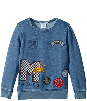 Little Marc Jacobs - MTV Style Badges Long Sleeve Sweatshirt (Toddler/Little Kids)